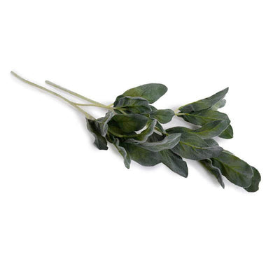 The Lamb's Ear Spray is a replicated spray of green lamb's ear leaves on a 25 inch long stem.