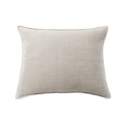 Big pillow made of 100% linen cream fabric.