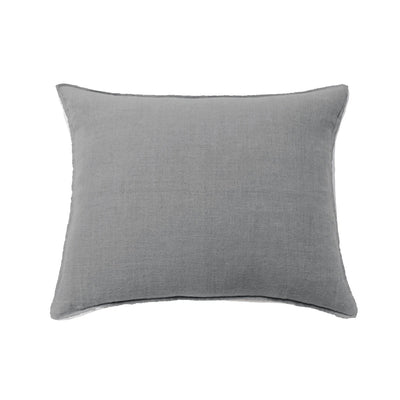 Big pillow in 100% linen blue grey color.