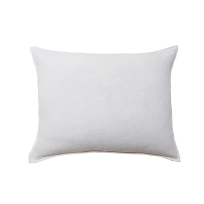 Large white linen pillow.