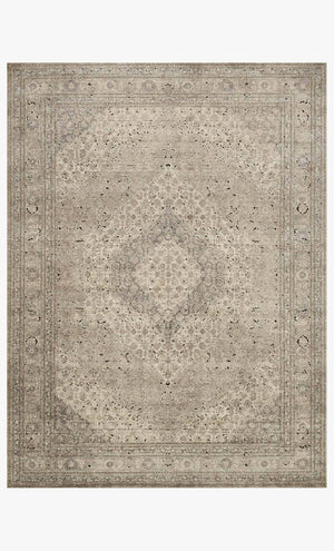 Sand and ivory classic traditional rug.