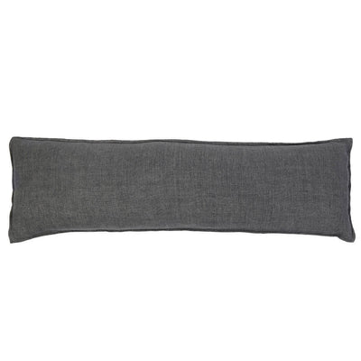 The Leon Body Pillow - Charcoal is a simple charcoal linen body pillow.