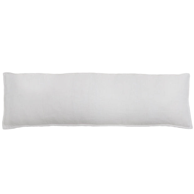 The Leon Body Pillow - White is a simple white linen body pillow.