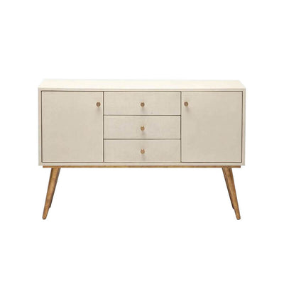 The Jackson Sideboard in an off white faux raffia finish.