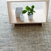 Colour and texture of the Sonoran Marled Indigo Rug. Hand woven, neutral rug.