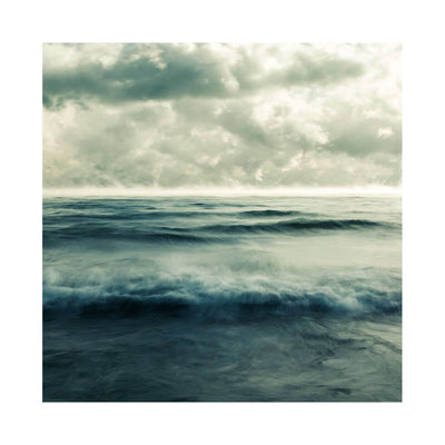 Mer 1 is a dramatic photograph of waves and clouds on Lake Ontario by artist Andrew Soule.