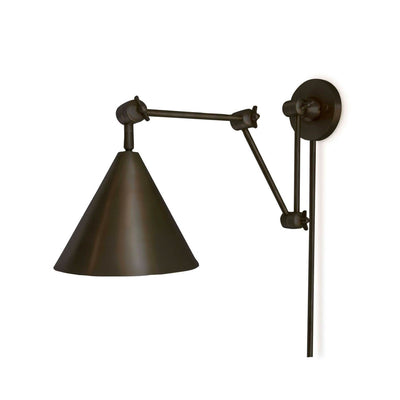 Modern and versatile wall lighting with adjustable joints and finished in a an oil rubbed brass.