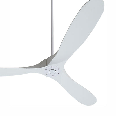 Matte white ceiling fan.