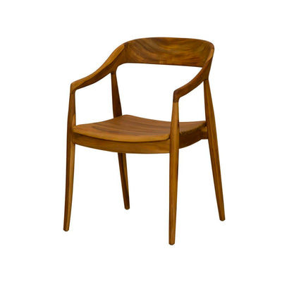 Modern coastal dining room chair made from reclaimed teak wood.