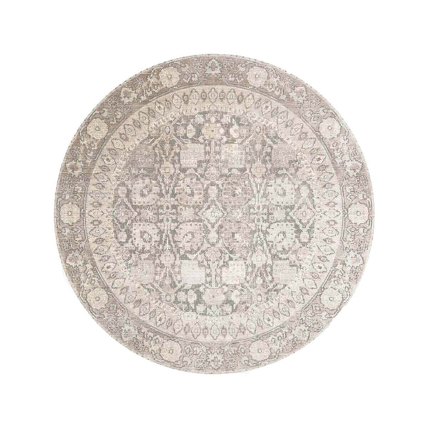 Salina Grey / Taupe Round Rug. Grey and light brown round rug.