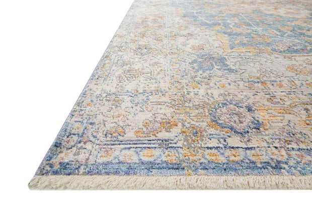 Colours and pattern of the Salina Blue / Multi Rug. Multicolour patterned rug. Colourful Turkish rug.
