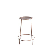 The Nashville Counter Stool is made from salvaged steel in a copper finish with hand-hammered dimpling details on the seat.
