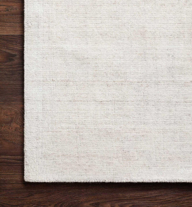 Texture and colour of the Huntington Bone Rug. Texture of hand loomed bone rug.