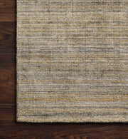 Texture detail of the Huntington Gold Rug. Soft, velvet rug. Gold hand loomed rug.