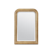 The Bristol Mirror in a gold leaf finish frame with a classy look and rounded top.