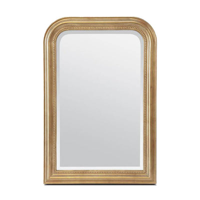 The Bristol Mirror in a gold leaf finish frame with a classy look.