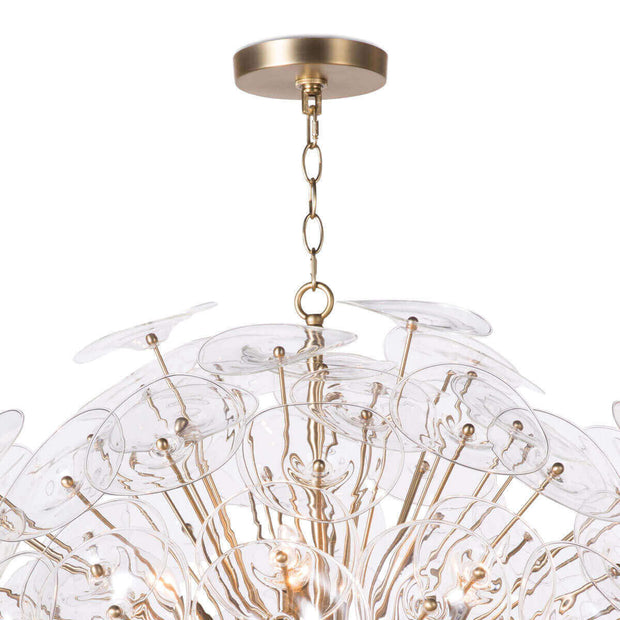 Ceiling attachment for the Samara glass chandelier.