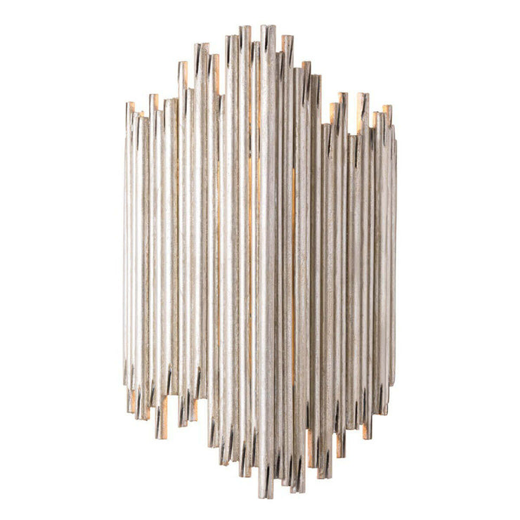 Gothic inspired wall sconce with a champagne finish and glam look.