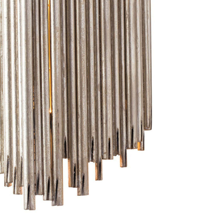 Champagne leaf finish and artistic rod details on the St. Albans Wall Sconce.