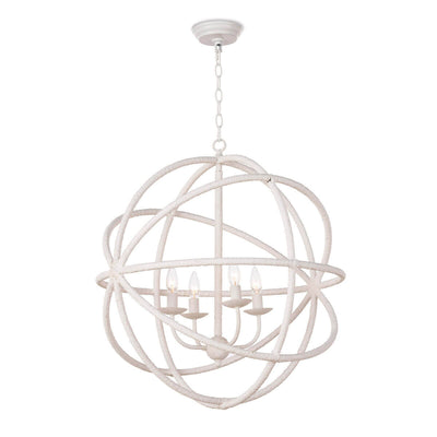 Stockholm Pendant. Airy white globe pendant with a rope look and nautical charm.