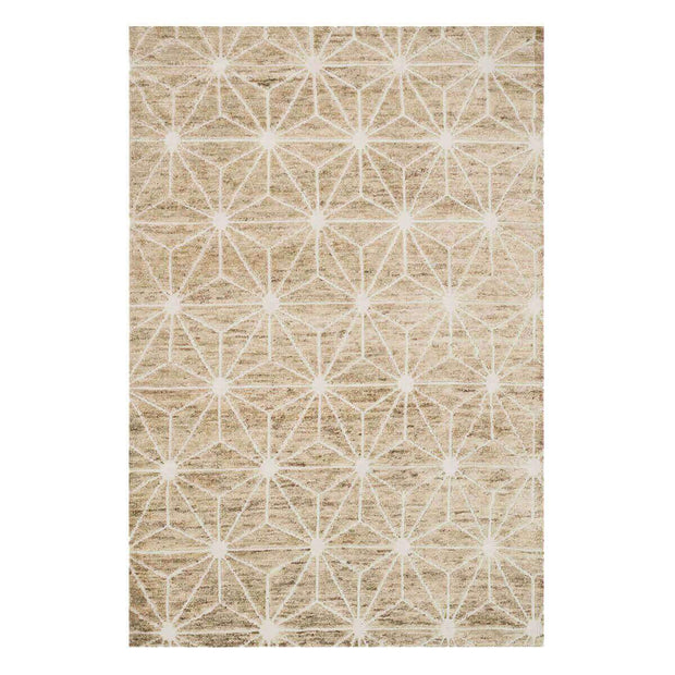 Bohemia Ivory Rug. Neutral jute and wool patterned rug.