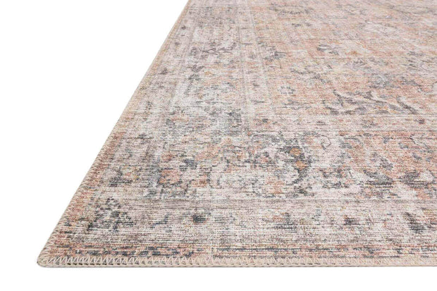 Power-loomed 100% polyester rug. Living room rug. Traditional patterned rug. Soft coloured rug.