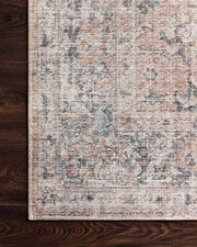 Lucerne Blush / Grey Rug. Blush and grey rug.  Traditional patterned rug for in your living room.