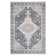 Lucerne Charcoal / Multi Rug. Traditional pattern in grey and multicolour rug. Powerloomed and printed rug.