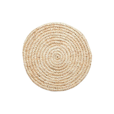 The Hawaii Wall Basket is a round, woven wall basket made from neutral sisal fibres.