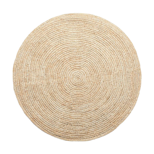 The Hawaii Wall Basket is a large round, flat woven wall basket made from neutral sisal fibres.