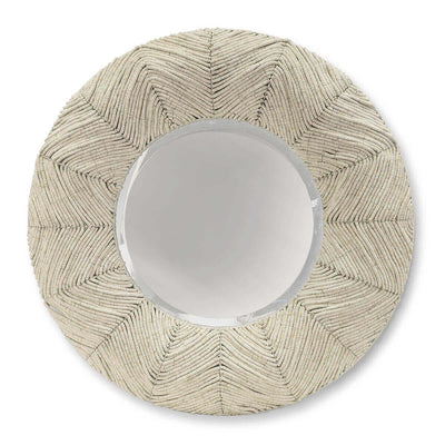 The Annotto Bay Mirror is hand-crafted with coconut shell beads in a unique wave pattern.