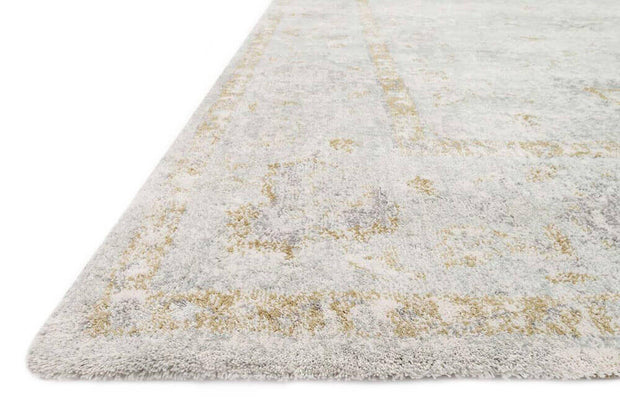 Texture and colour details of the Bergen Sea Rug. Affordable, seafoam rug.