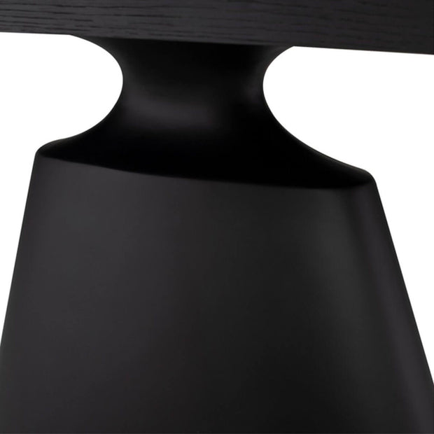 Sleek, stand-alone architectural base detail on the Muscat Dining Table.