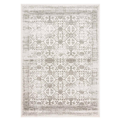 Tamra Ivory/Grey rug. Traditional patterned Ivory/Grey rug.
