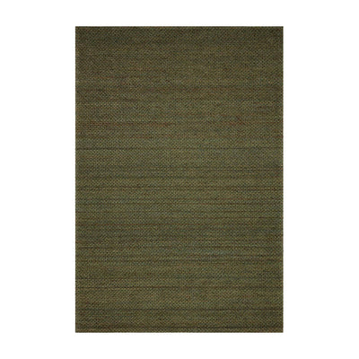 Earthy, olive-toned textural jute rug. Handwoven rug.