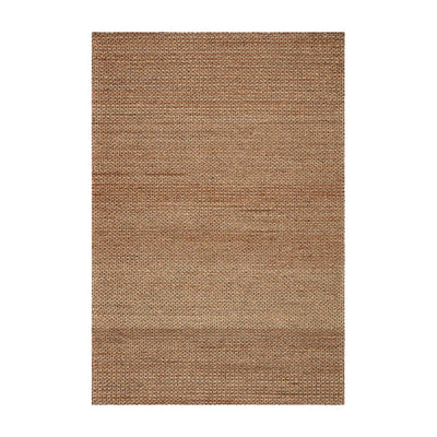Earthy, natural beige-toned textural jute rug. Handwoven rug.