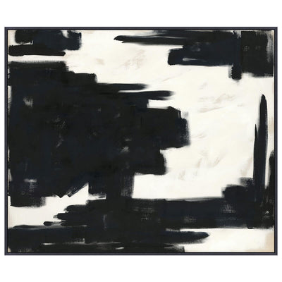 Find is an abstract, black and white piece of art with a modern look.