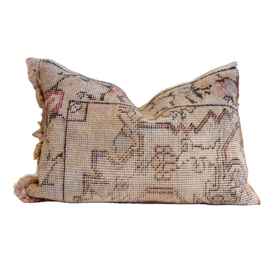 The Vintage Rug Pillow is handcrafted from vintage rugs and are one of a kind.