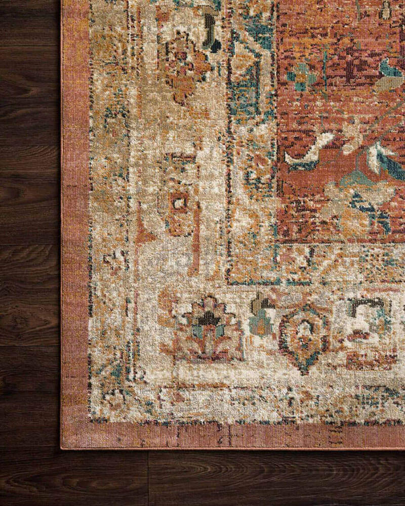Marrakech Spice / Multi Rug.  Affordable rug. Brown, spice, and blue rug. Living room rug.