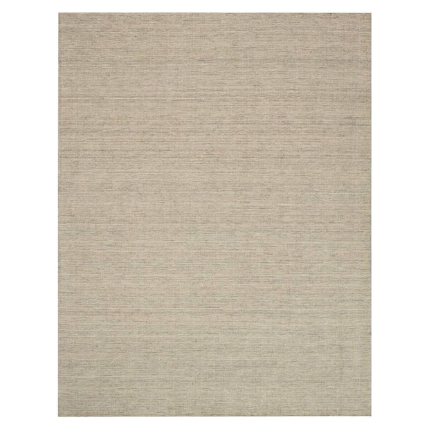 Lisbon Stone Rug . Textured, wool rug. Stone coloured, hand loomed rug.