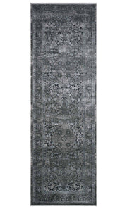 Cambridge Grey Runner. Grey patterned rug. Rug for high traffic area.