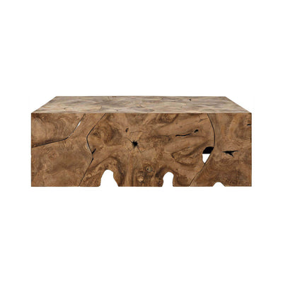 The Kyrenia Coffee Table is made from teak wood and has a natural look.