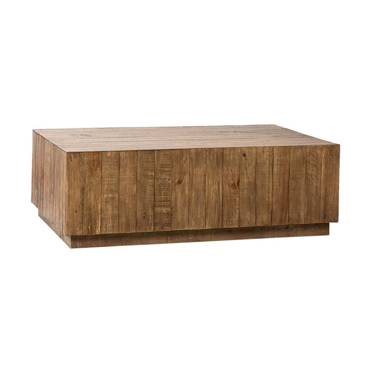 The Erie Coffee Table is made of reclaimed pine boards and has a charming, modern farmhouse look.