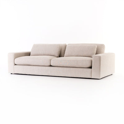 Sofa is a spacious sofa with a deep seat and durable lightweight essence natural woven fabric upholstery.