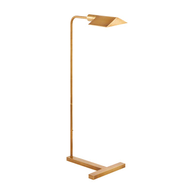 The William Pharmacy Floor Lamp elevates the traditional pharmacy lamp lighting. The traditional silhouette of this light is modernized with the sturdy base and natural brass finish.