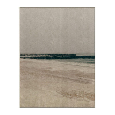 Winter Coast is a neutral piece of artwork depicting a sandy beach in neutral colours with a modern, coastal vibe.