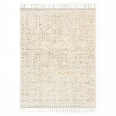 Arendal Oatmeal / Ivory Rug. Neutral oatmeal and ivory shag rug in a slightly shaggy texture.