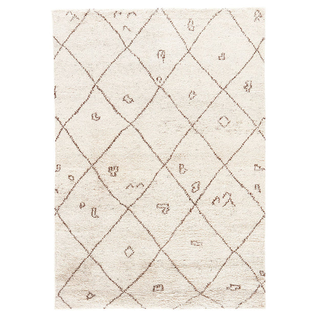 Minsk Turtledove / Walnut Rug. Moroccan style rug. Natural wool rug. Bohemian neutral rug.
