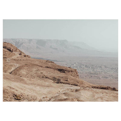 Israel - Ridge is a landscape portrait of a desert mountain range by artist Brendan Burden.