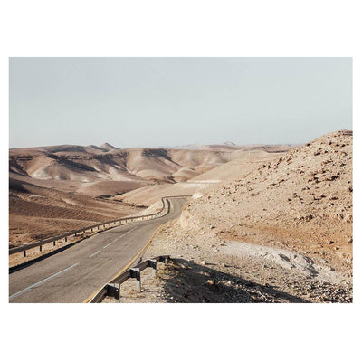 The Israel - Roadway is a scenery photograph with a neutral colour landscape by Brendan Burden.